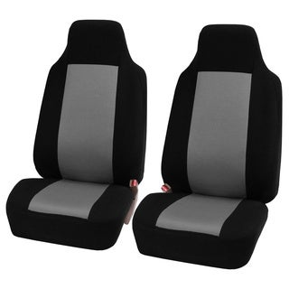 FH Group Grey Fabric Universal Front Bucket Seat Covers (Set of 2)