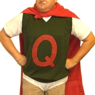 Men's Quailman 'Q' Green Sweater Vest