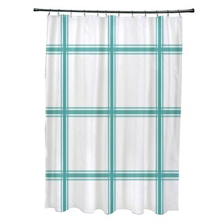 Simple Plaid Pattern Shower Curtain (4 options available)