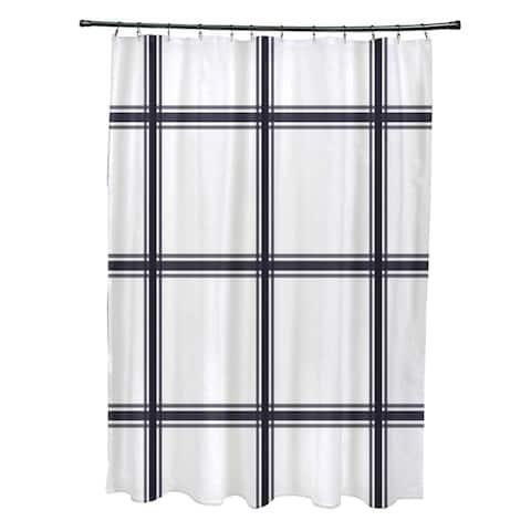 Simple Plaid Pattern Shower Curtain