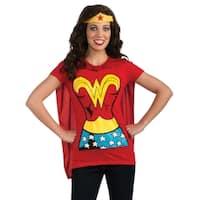 Women's Wonder Woman T-shirt Costume Kit
