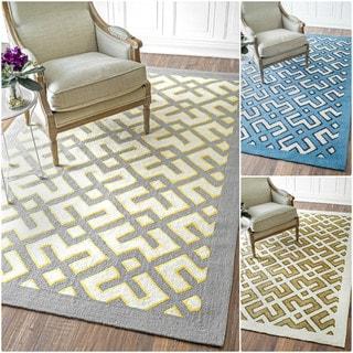 nuLOOM Handmade Modern Wool/ Cotton Rug (5' x 8')