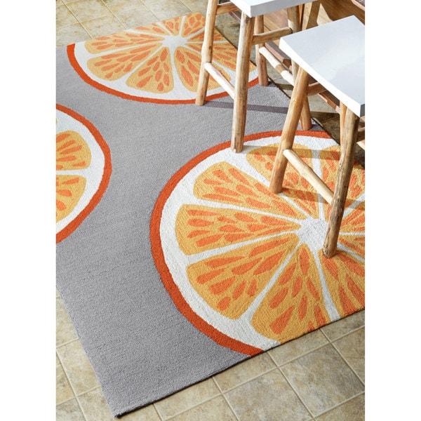 NuLOOM Handmade Indoor/ Outdoor Modern Orange Kitchen Rug