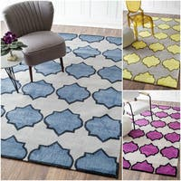 nuLOOM Handmade Modern Wool/ Cotton Rug (5' x 8') - 5' x 8'
