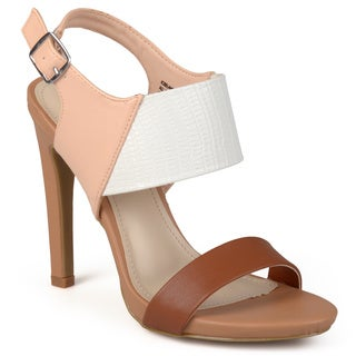 Journee Collection Women's 'Orchid' Tonal Patent Ankle Strap Pumps