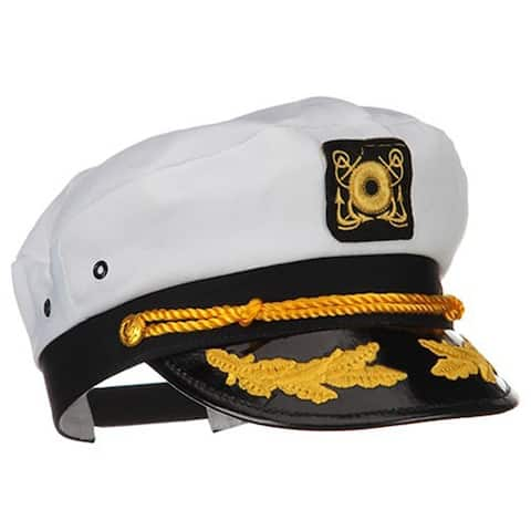 Yacht Captain Hat with Scrambled Eggs Costume Accessory