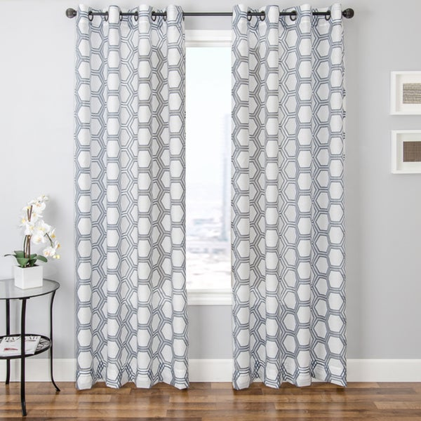 Softline Andres Burnout Sheer Geometric Curtain Panel