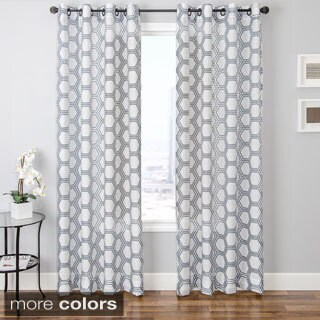Softline Andres Burnout Sheer Geometric Curtain Panel (3 options available)
