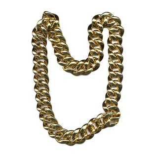 Thick Gold Chain Necklace Costume Accessory