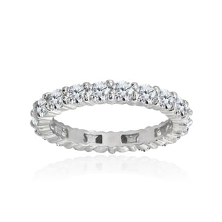 Link to ICZ Stonez 100 Facets Cubic Zirconia Sterling Silver Eternity Ring Similar Items in Rings