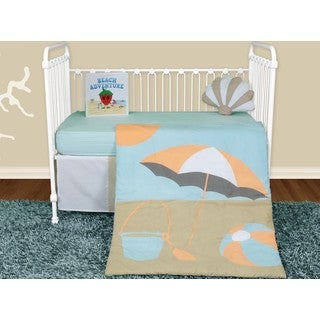 Snuggleberry Baby Sun And Sand 5-piece Crib Bedding Set with Storybook