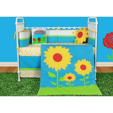 Snuggleberry Baby Sunflower Love 6-piece Crib Bedding Set with Storybook