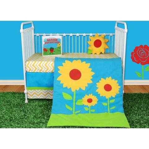 Snuggleberry Baby Sunflower Love 5-piece Crib Bedding Set with Storybook