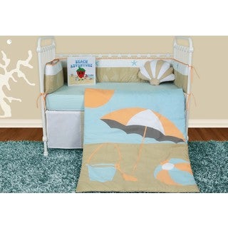 Snuggleberry Baby Sun and Sand 6-piece Crib Bedding Set with Storybook