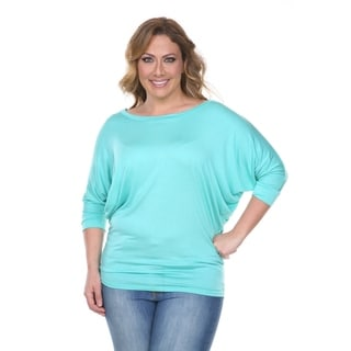 White Mark Women's Plus Size Wide Neck Tunic (Option: 1x)