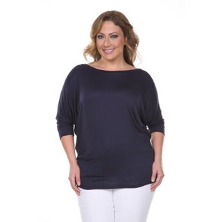 White Mark Women's Plus Size Wide Neck Tunic (More options available)