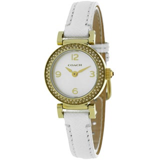 Coach Women's 14501970 Madison Round White Strap Watch
