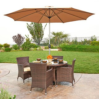 the-Hom Gita 6-piece Outdoor Wicker Dining Set
