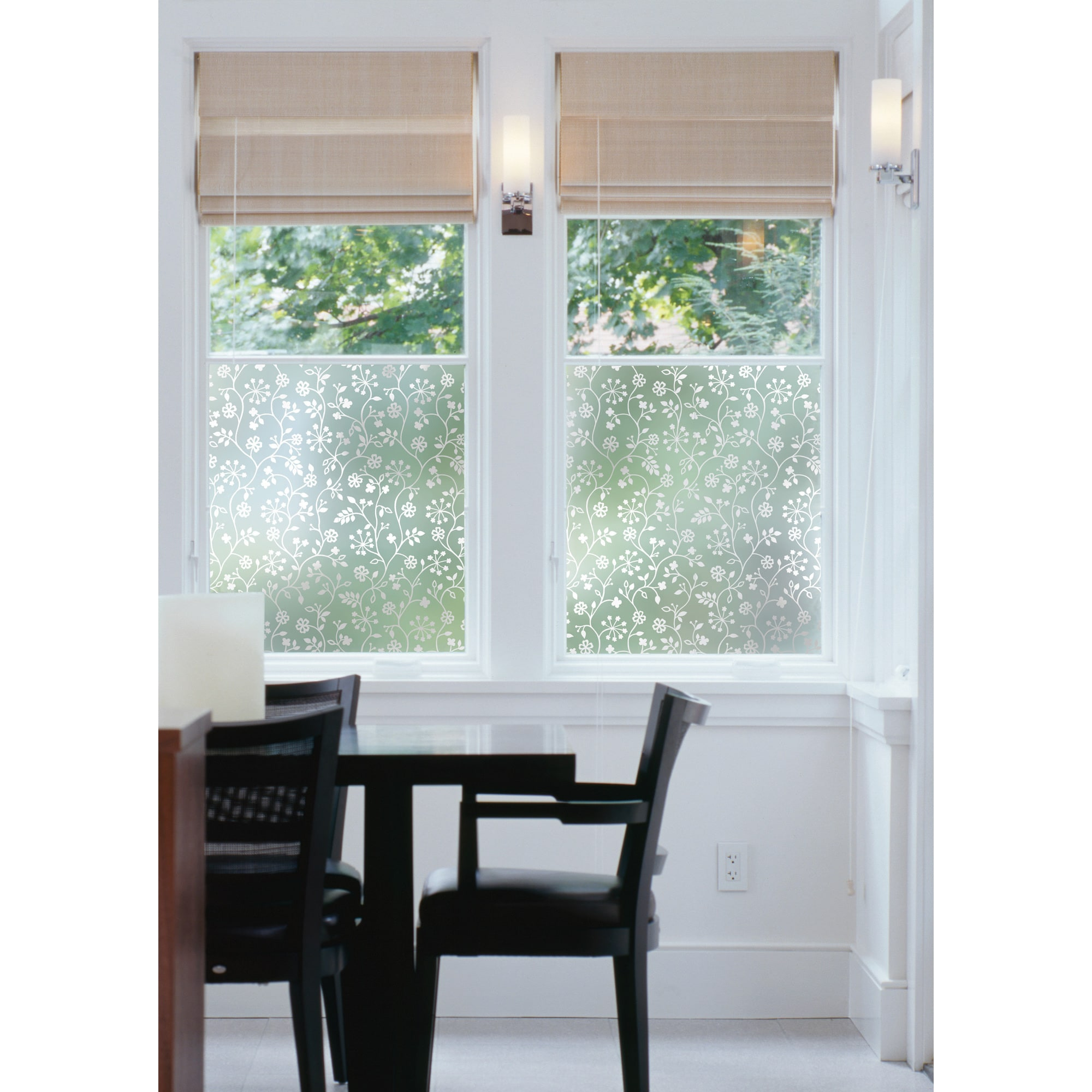 Brewster Winter Garden Window Film (Grey) (Plastic)