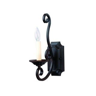Maxim Lighting Manor 1-light Iron Bronze Wall Sconce