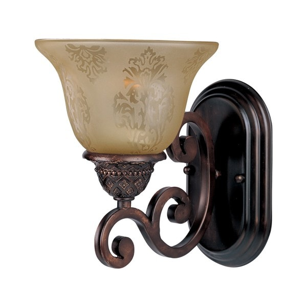 Symphony Wall Lights Black : Maxim Lighting Symphony 1-light Bronze Wall Sconce - Free Shipping Today - Overstock.com - 16995418