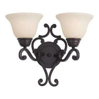Maxim Manor Oil-rubbed Bronze 2-light Wall Sconce