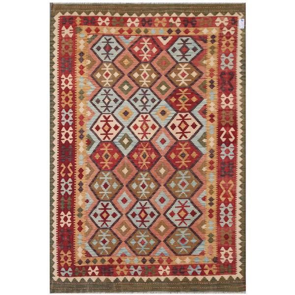 Handmade Herat Oriental Afghan Tribal Wool Kilim - 6'9 x 9'8 (Afghanistan)