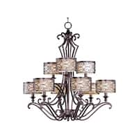 Maxim Lighting Mondrian 9-light Bronze-finished Chandelier