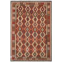 Handmade Herat Oriental Afghan Tribal Wool Kilim (Afghanistan) - 7'11 x 11'5