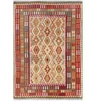 Handmade Herat Oriental Afghan Tribal Wool Kilim  - 8'4 x 11'6 (Afghanistan)