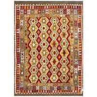 Herat Oriental Afghan Hand-woven Tribal Wool Kilim - 8'1 x 11'2