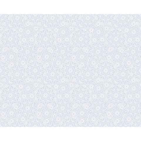 Lace Floral Window Film - grey
