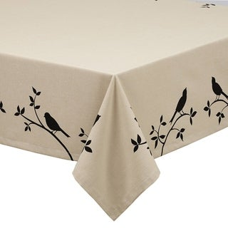 Burlap Bird Printed Tablecloth