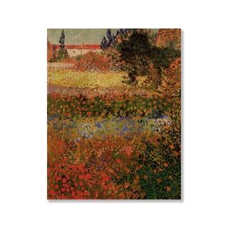 Gallery Direct Vincent Van Gogh's 'Flowering Garden' Print on Wood