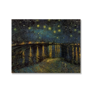 Gallery Direct Vincent Van Gogh's 'Starry Night Over the Rhone' Print on Wood
