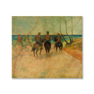 Gallery Direct Paul Gauguin's 'Riders on the Beach' Print on Wood