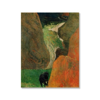 Gallery Direct Edgar Degas' 'Seascape with Cow on the Edge of a Cliff' Print on Wood