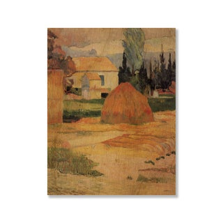 Gallery Direct Paul Gauguin's 'Landscape near Arles' Print on Wood