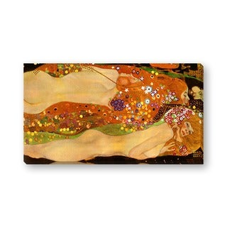 Gallery Direct Gustav Klimt's 'Water Serpents II' Gallery Wrapped Canvas