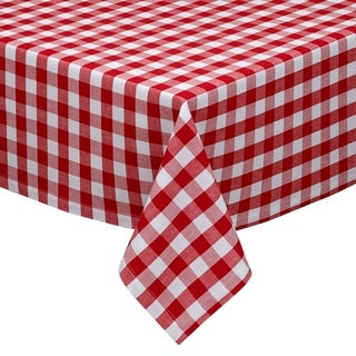 Tango White Checkers Indoor/Outdoor Tablecloth
