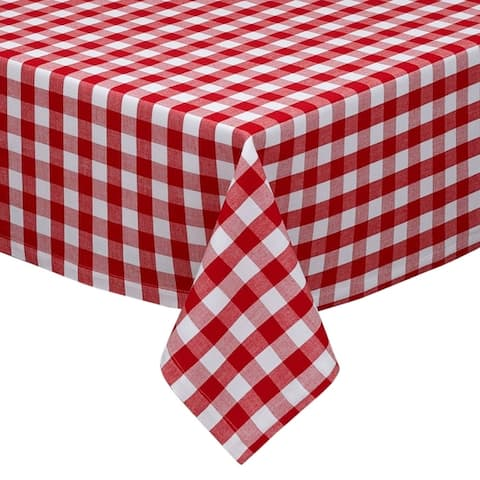 DII Tango White Checkers Indoor/Outdoor Tablecloth