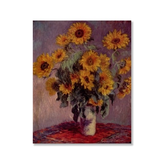 Gallery Direct Claude Monet's 'Bouquet of Sunflowers' Print on Wood