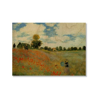 Gallery Direct Claude Monet's 'Poppies (Poppy Field)' Print on Wood