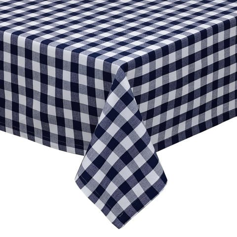 Nautical and White Checkers Indoor/Outdoor Tablecloth