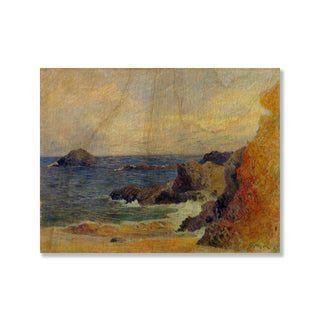 Gallery Direct Paul Gauguin's 'Coastal Landscape' Print on Wood