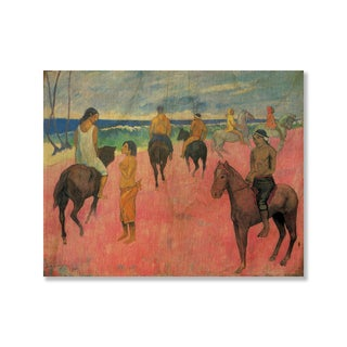 Gallery Direct Paul Gauguin's 'Riders on the Beach II' Print on Wood