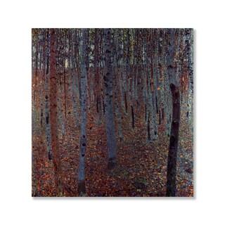 Gallery Direct Gustav Klimt's 'Beech Forest' Print on Wood