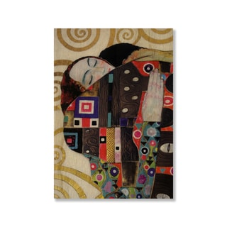 Gallery Direct Gustav Klimt's 'Beethoven Frieze Detail' Print on Wood