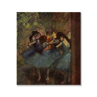 Gallery Direct Edgar Degas' 'Ballet Dancers in Blue' Print on Wood