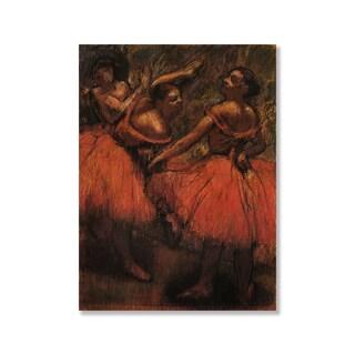 Gallery Direct Edgar Degas' 'Orange Skirts' Print on Wood